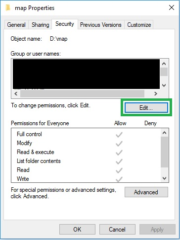 all application packages user group permissions