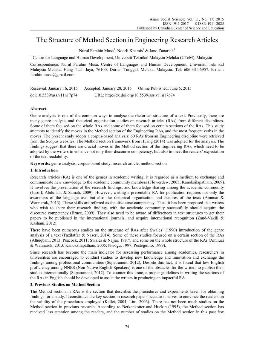 methodology section post-doc application