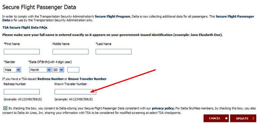 nexus card application trusted traveler