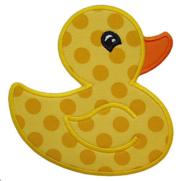 rubber duck applique embroidery design