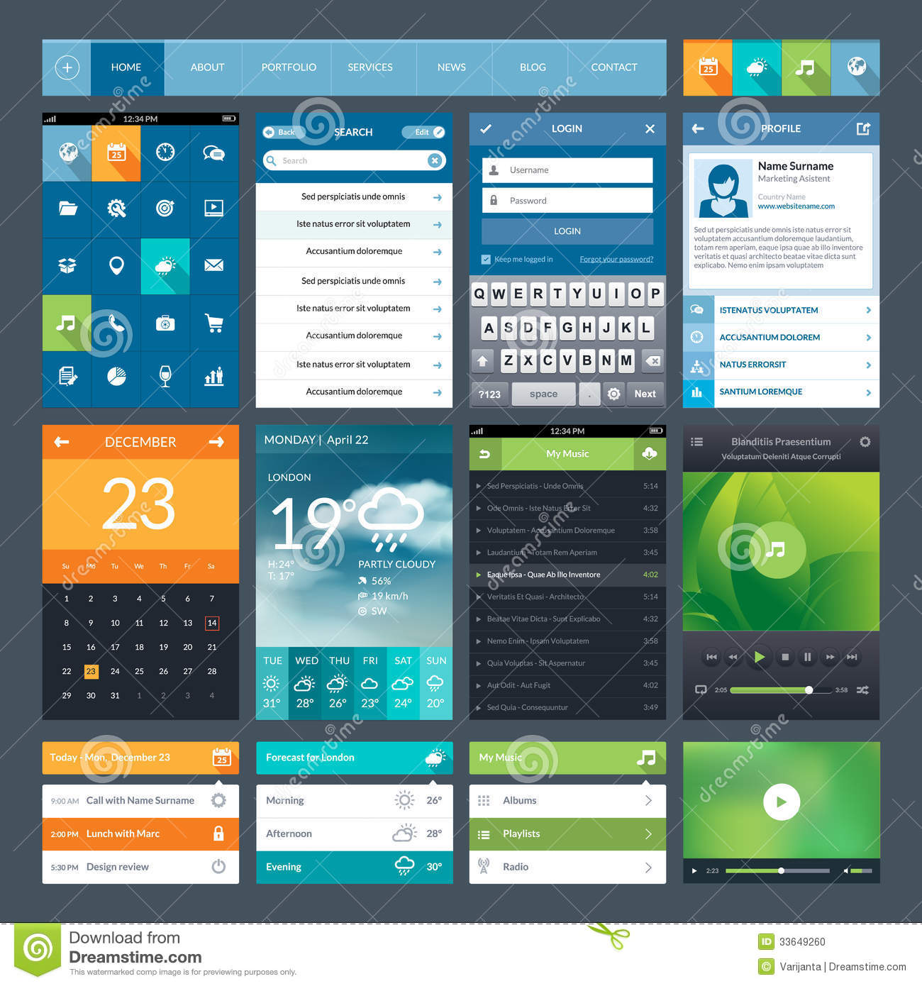 mobile web applications example design