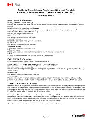 live-in caregiver application forms hrdc
