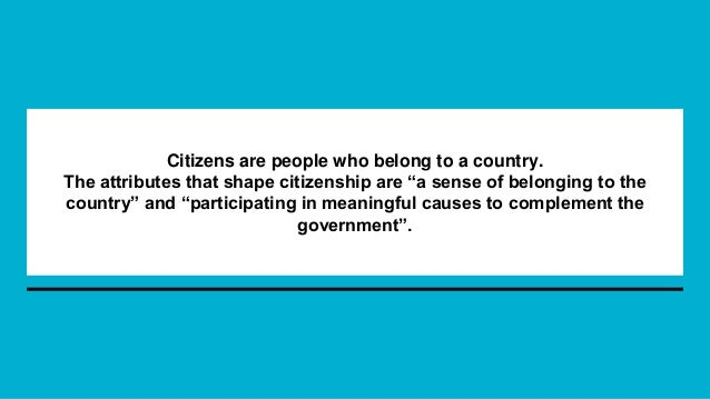 what does citizenship mean on an application