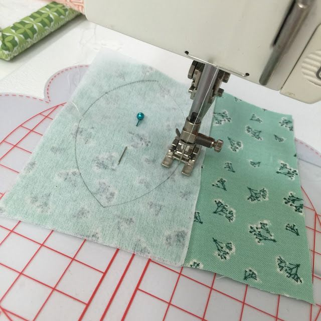 machine sewing small applique pieces