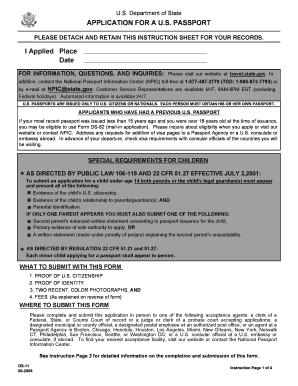united states passport application ds-82