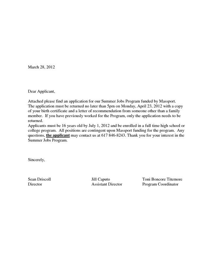 cover letter sample for job application tester