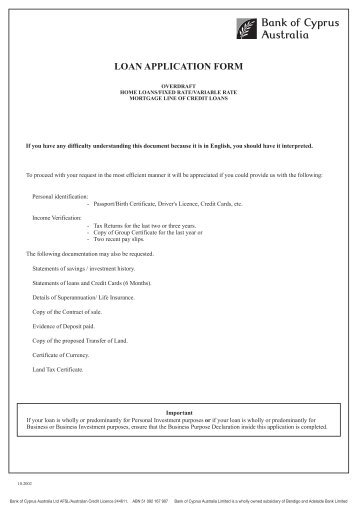 bank of ireland personal loan application form