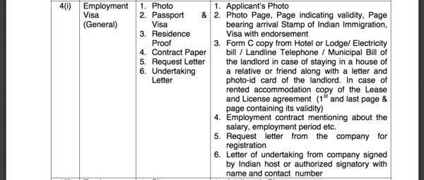 frro visa extension application form