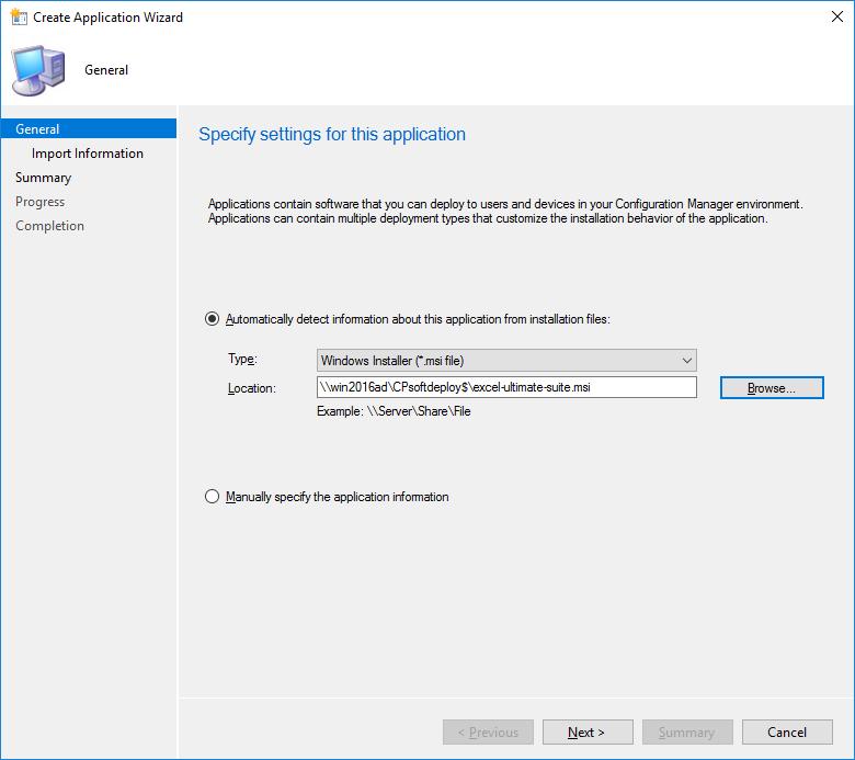 deploy application by sccm through cdn