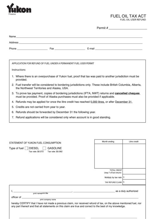 application for fuel tax refund by an indian