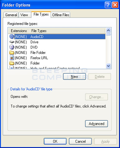 how to change the default application to open a file