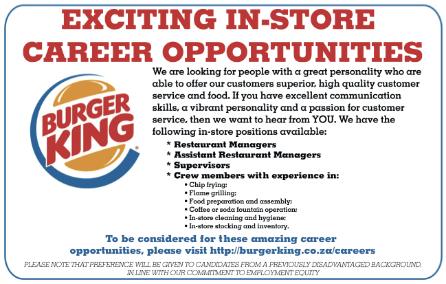 burger king employment application form pdf