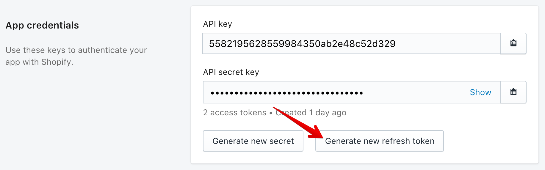 how to create oauth authentification shopify application
