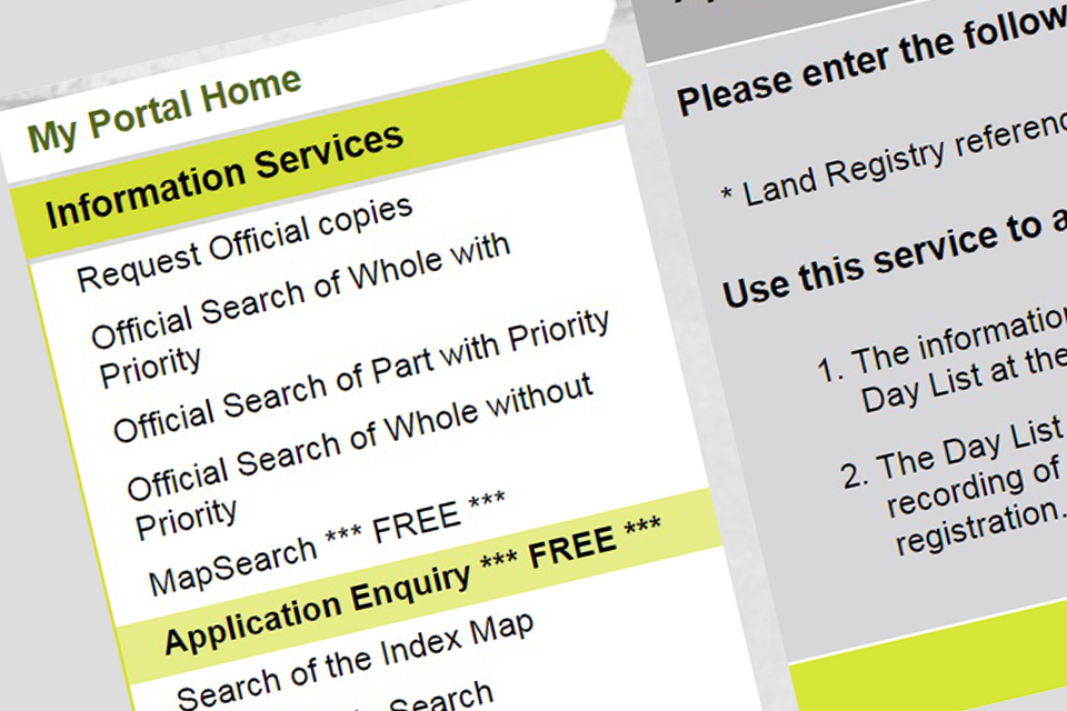 land registry office withdraw of application