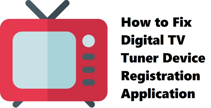 slowing down computer digital tv tuner device registration application
