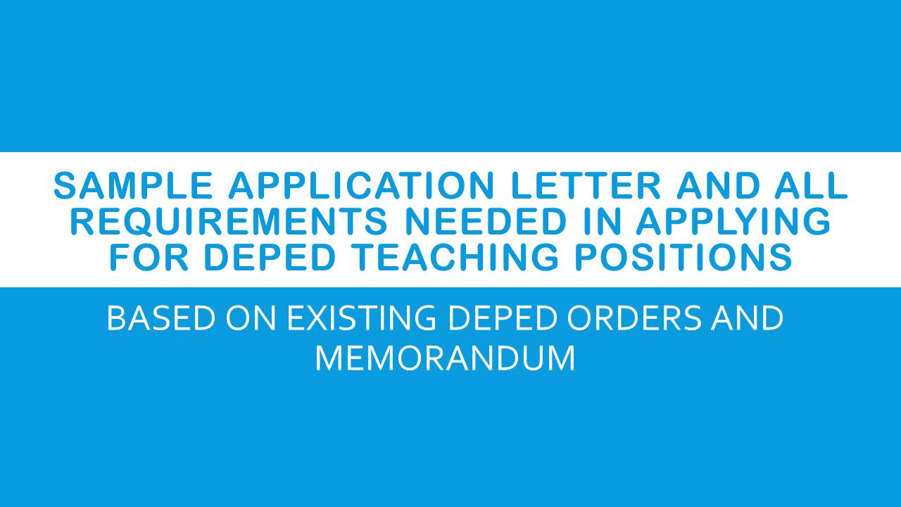 application letter sample for college teacher
