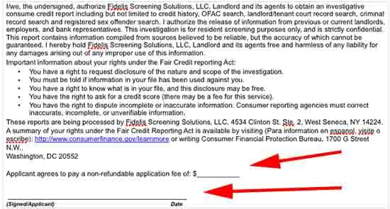 cancel an application on tenant and landlord board