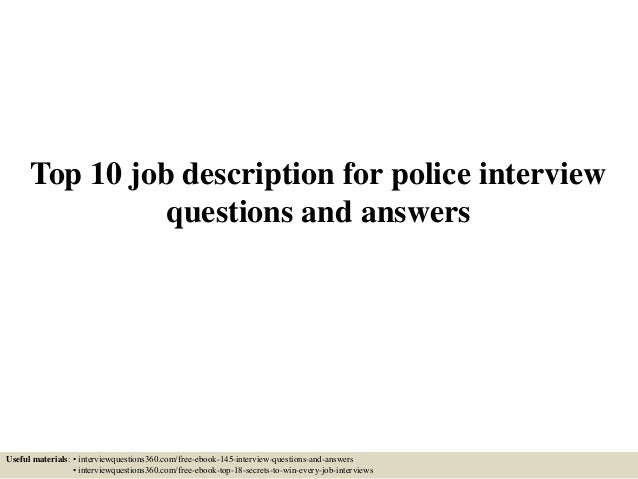 police officer application questions and answers