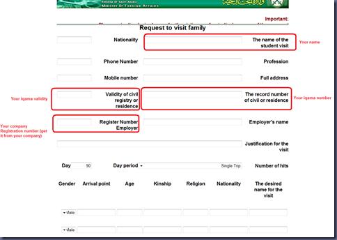 tourist visa application form for parents
