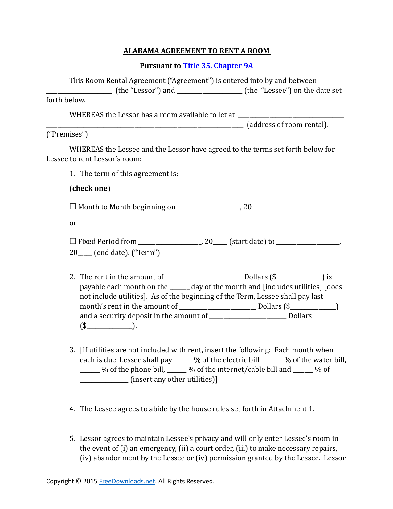 for renting a conduminum application form