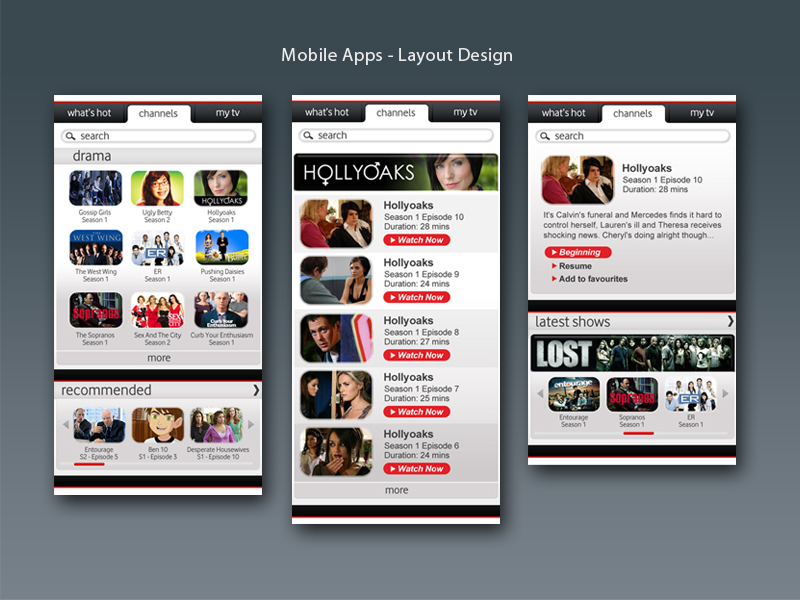 professional words for mobile application user interface