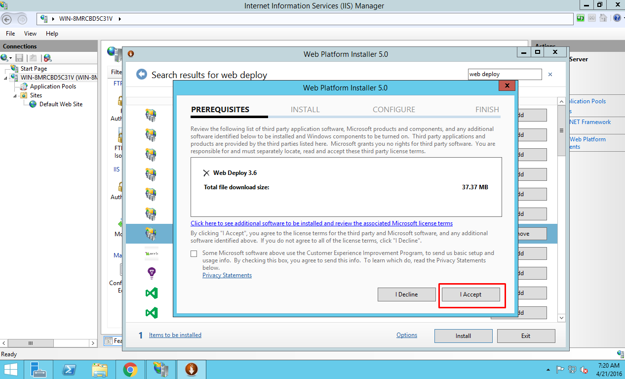 wix installer for asp.net web applications