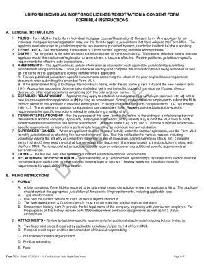 form 1 application for mortgage broker