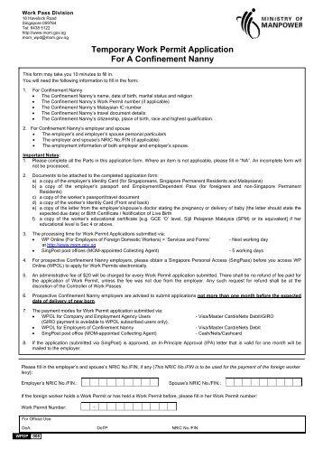 cic temporary work permit application
