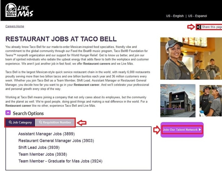 apply for taco bell online application online