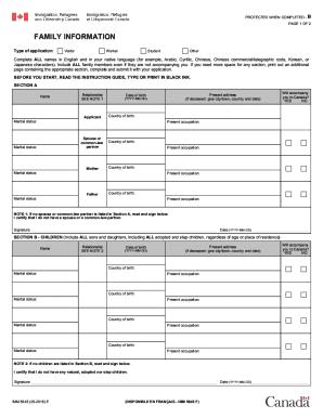 temporary resident visa application form imm 5645