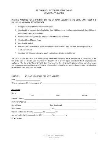 application for esquimalt fire department