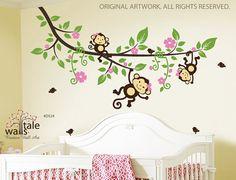 jungle super jumbo wall applique