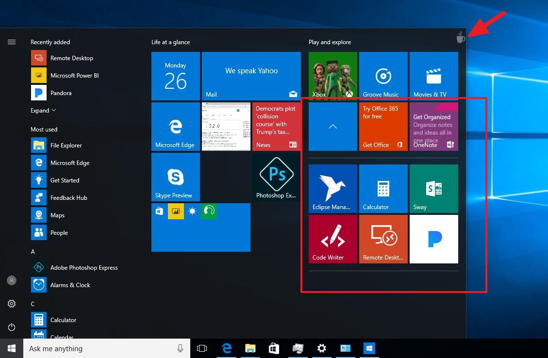 open startup applications folder windows 10