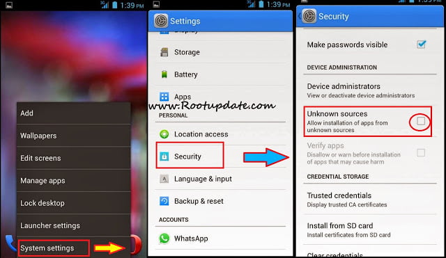 how to make screen for android application