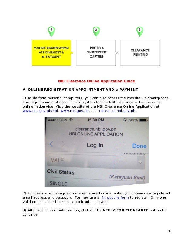 nbi clearance online application payment