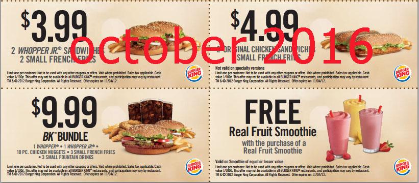 burger king printable application 2016