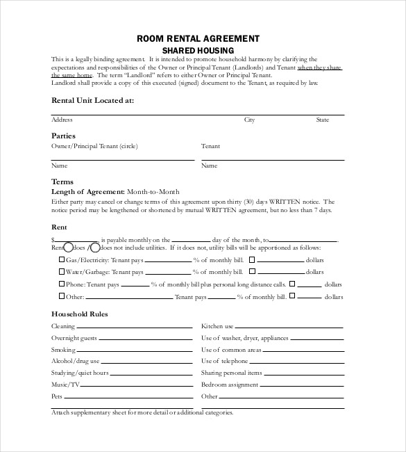 rental application form template alberta