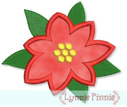 poinsettia free pattern for applique