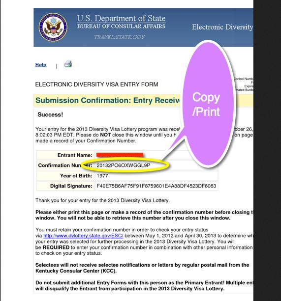 dv lottery 2014 application form