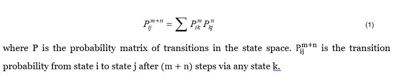 application of chapman-kolmogorov equation