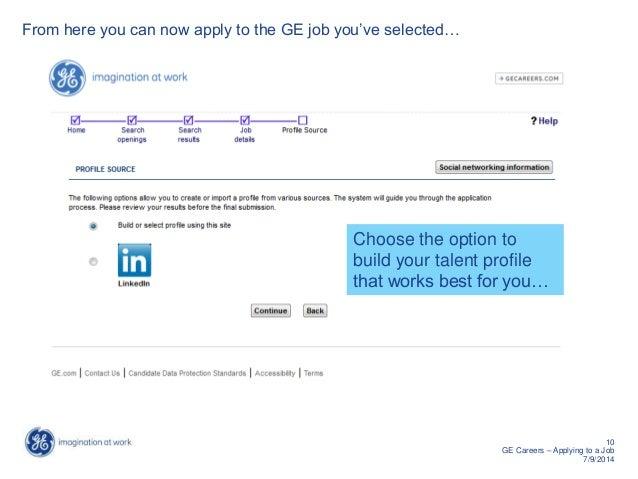 job applications towards ge failed
