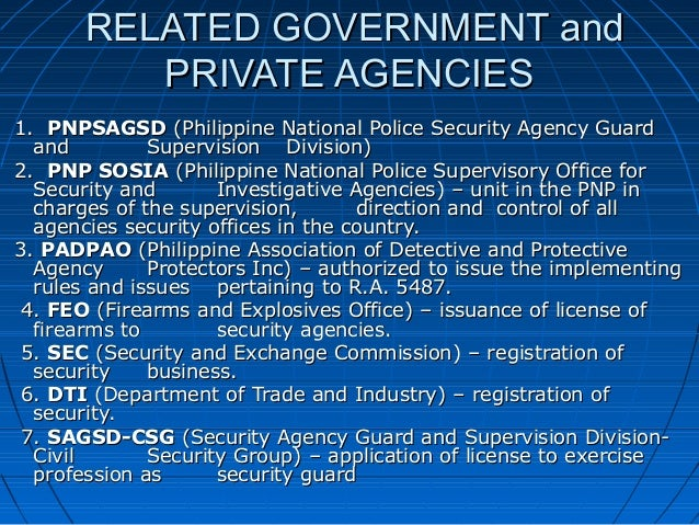 security guard license application philippines