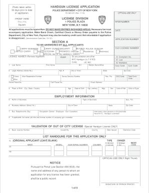 application form for renewal of gun licence