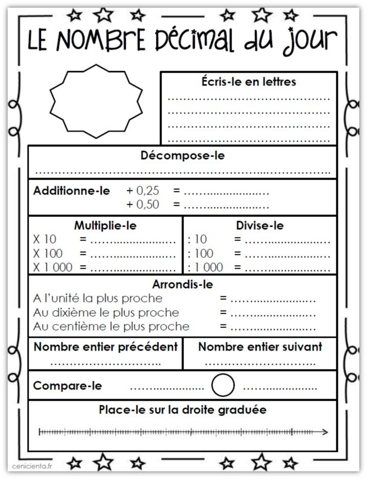 application en maths sur les decimales