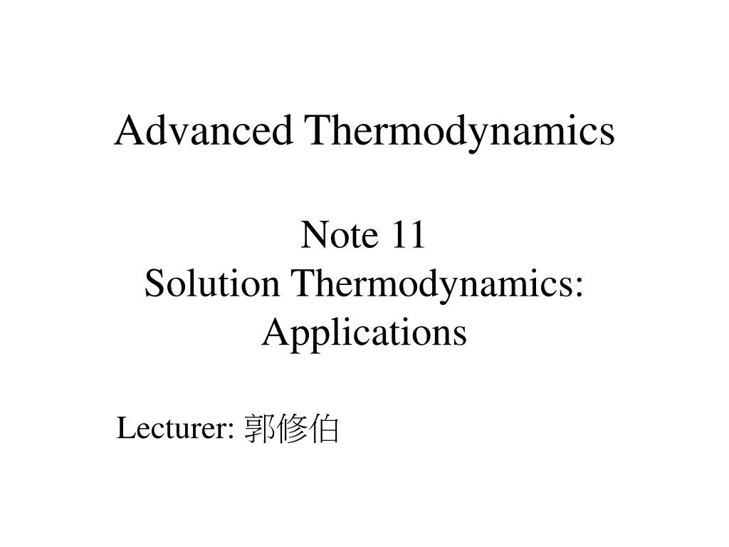 application of thermodynamics in electrical engineering ppt