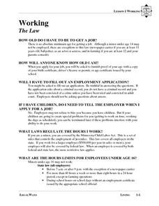 are job applications required by law