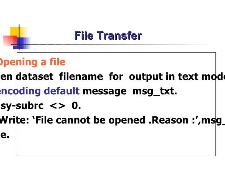 sap abap write file to application server