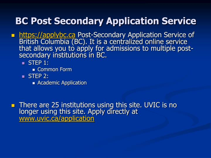 bc post secondary application application deadlines