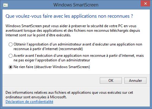 desactiver application window 8 qui empeche le demarrage