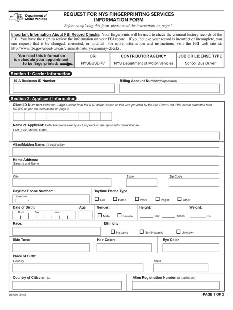 citizenship application request for fingerprints